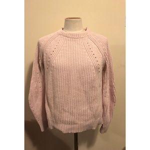 Intermix Brand Baby Pink Cotton Sweater Size XS